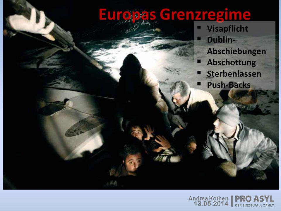 Europas Grenzregime Visapflicht Dublin-Abschiebungen Abschottung