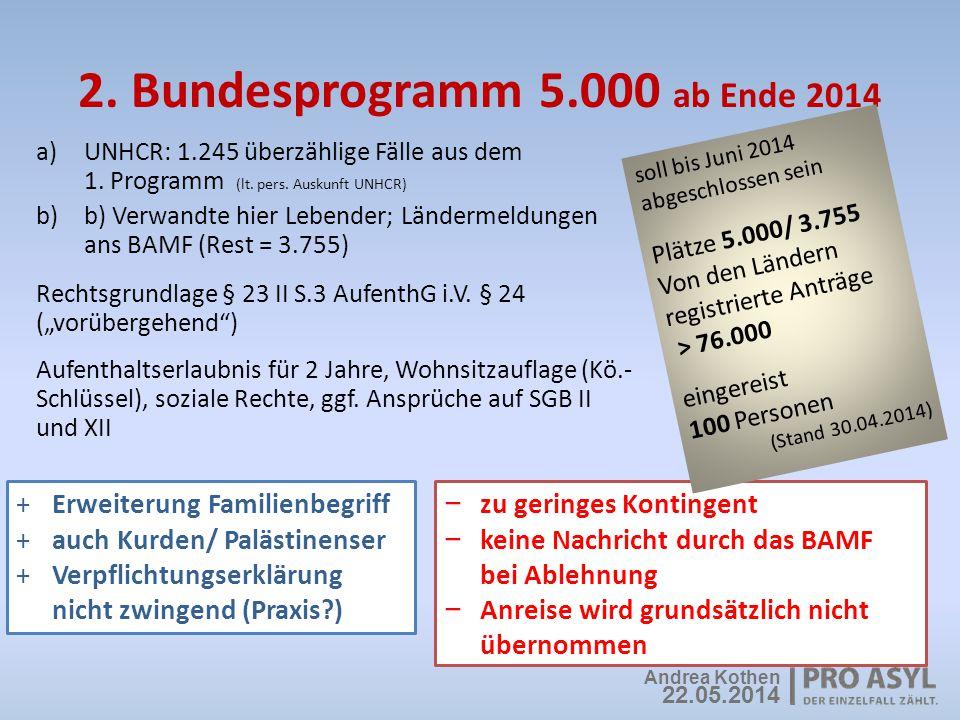 2. Bundesprogramm 5.000 ab Ende 2014