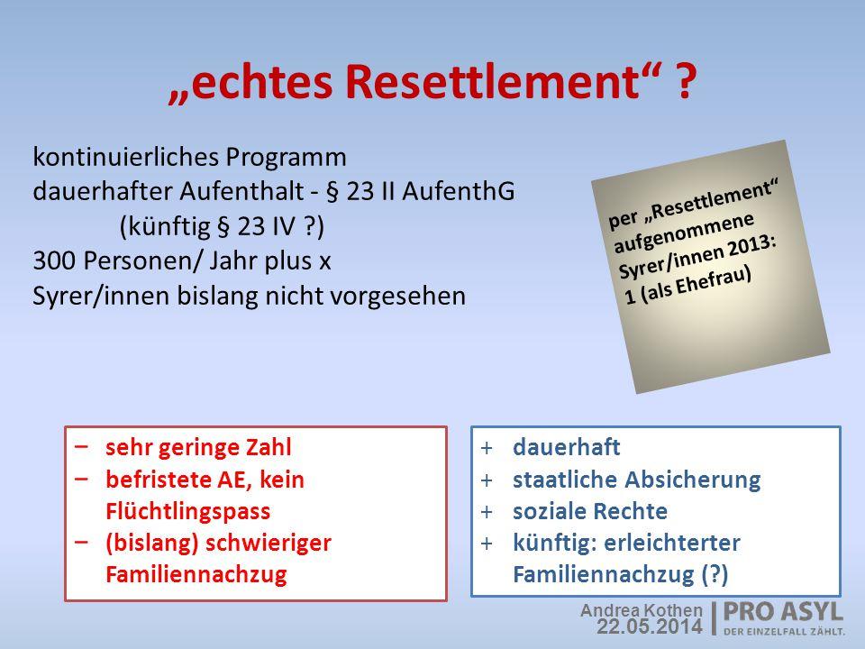 """""""echtes Resettlement"""