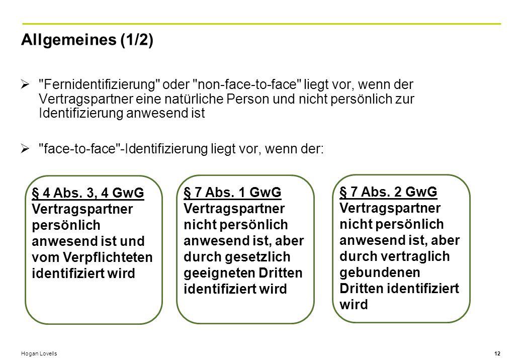 Allgemeines (1/2)