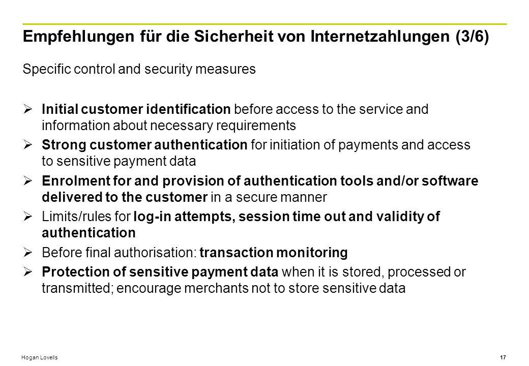 Empfehlungen für die Sicherheit von Internetzahlungen (3/6)