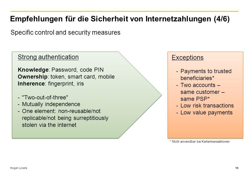 Empfehlungen für die Sicherheit von Internetzahlungen (4/6)