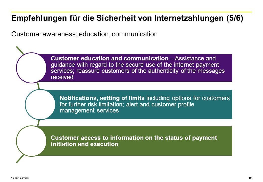 Empfehlungen für die Sicherheit von Internetzahlungen (5/6)