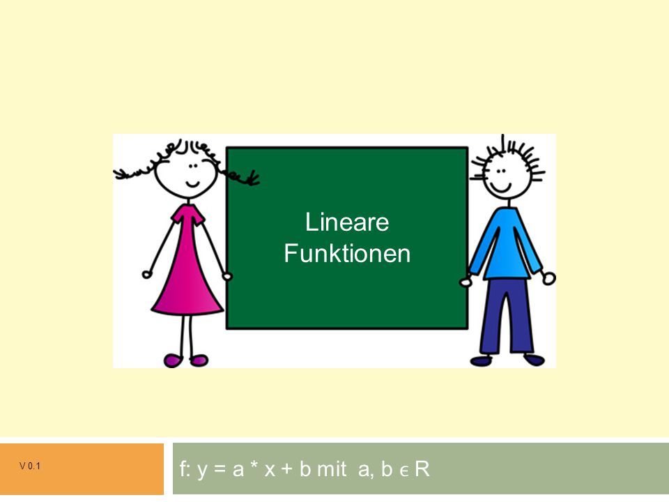 Grundrechenarten Lineare Funktionen f: y = a * x + b mit a, b ϵ R