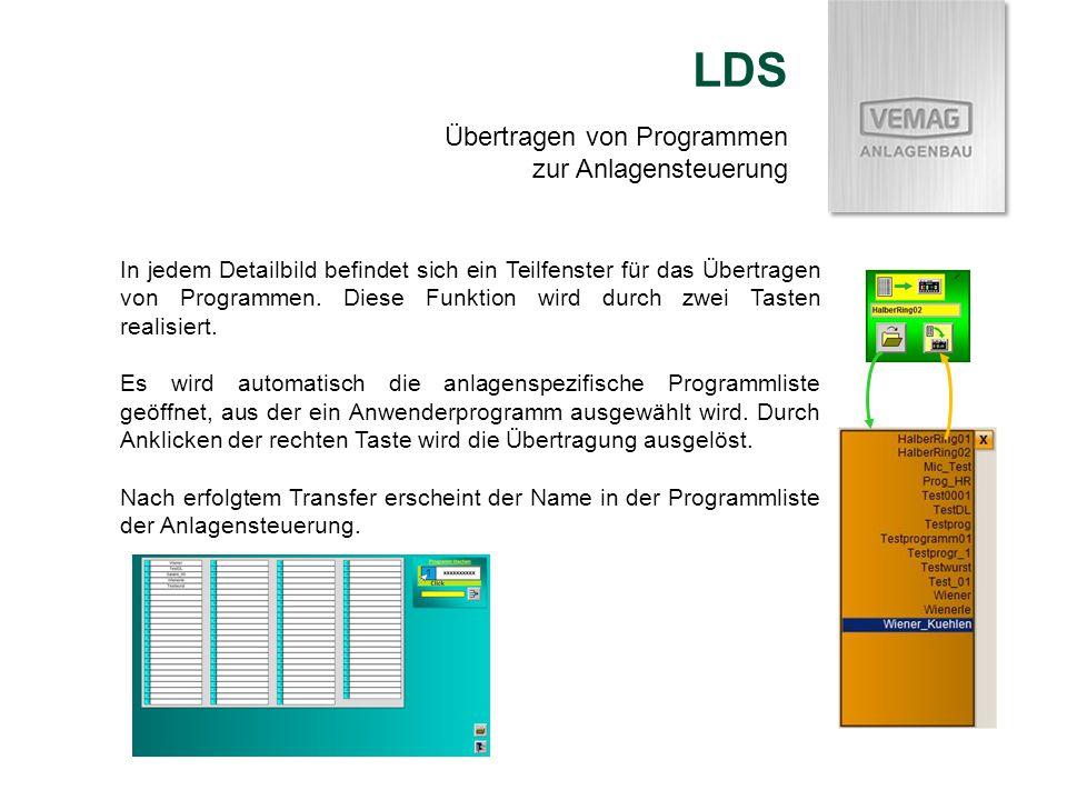 LDS Übertragen von Programmen zur Anlagensteuerung