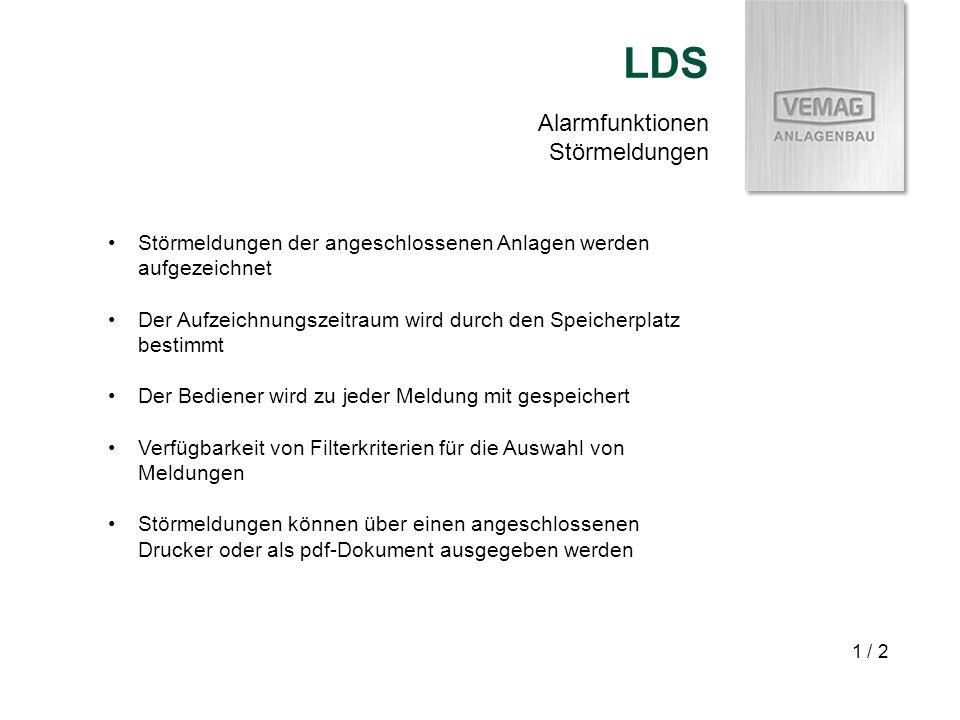 LDS Alarmfunktionen Störmeldungen