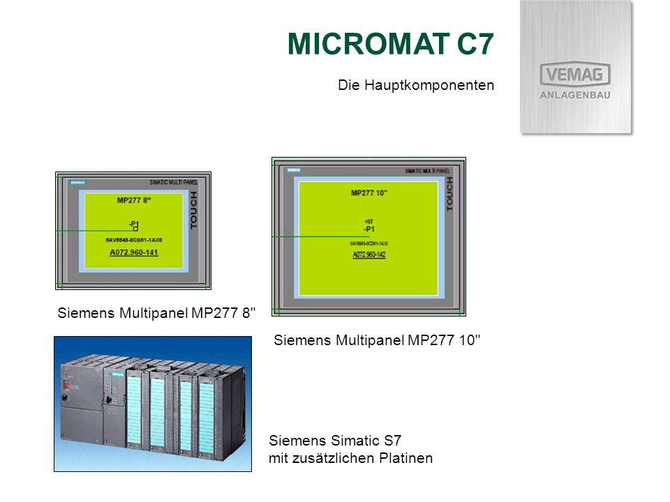 MICROMAT C7 Die Hauptkomponenten Siemens Multipanel MP277 8