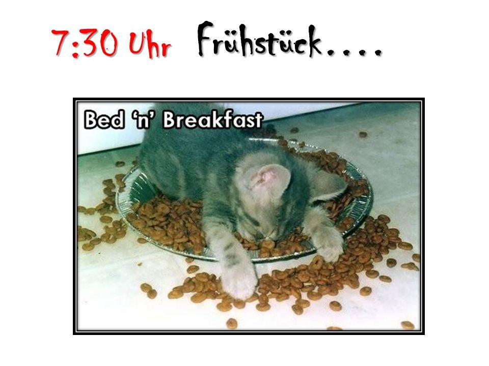 Frühstück…. 7:30 Uhr