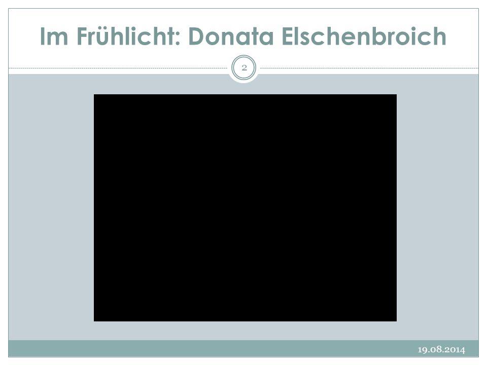 Im Frühlicht: Donata Elschenbroich