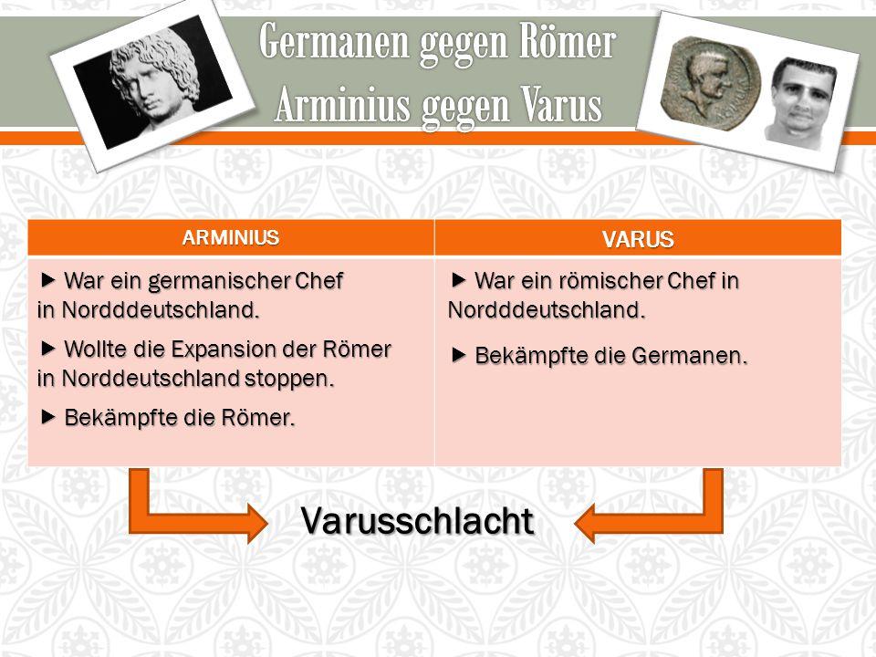 Germanen gegen Römer Arminius gegen Varus