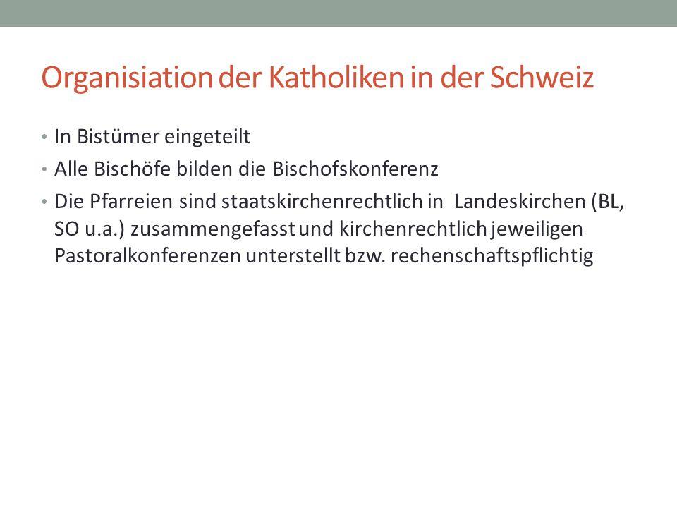 Organisiation der Katholiken in der Schweiz