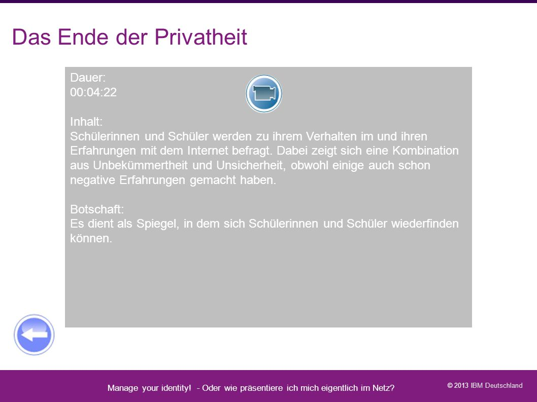 Video: Das Ende der Privatheit