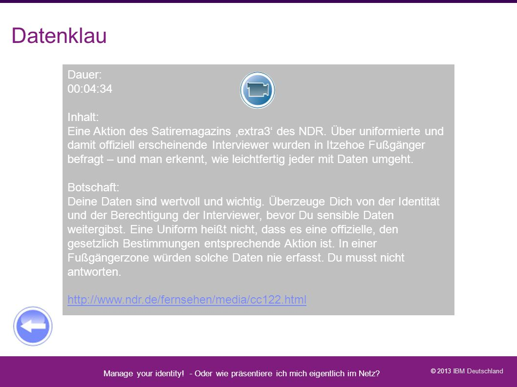 Datenklau Video: Datenklau