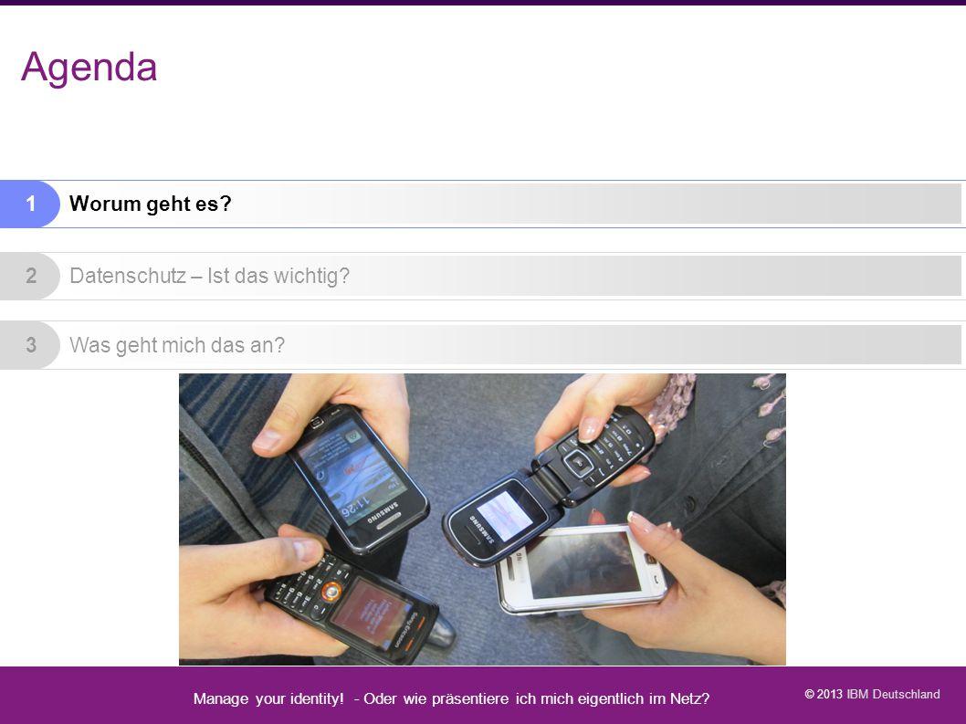Agenda Agenda Manage your identity - Datenschutz geht zur Schule - 5