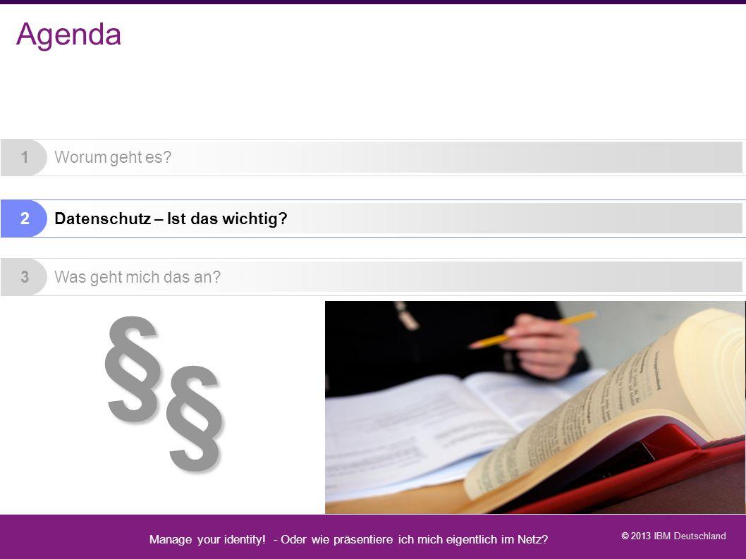 § Agenda Manage your identity - Datenschutz geht zur Schule - 1