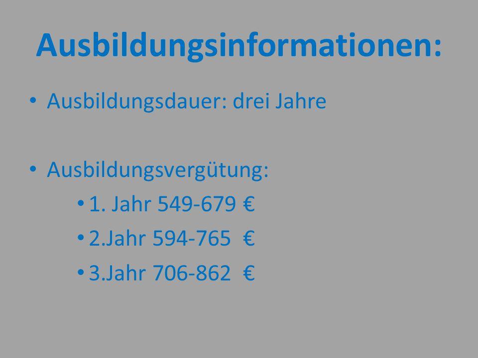 Ausbildungsinformationen:
