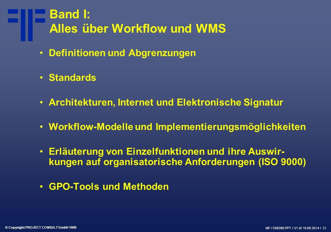 Band I: Alles über Workflow und WMS