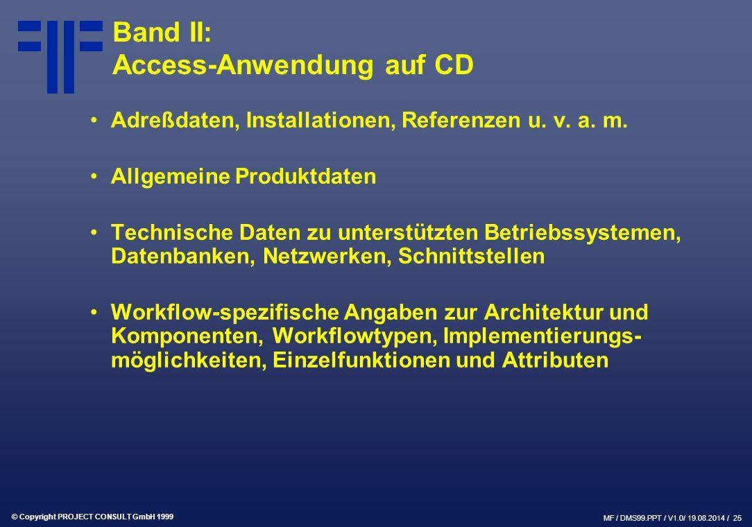 Band II: Access-Anwendung auf CD