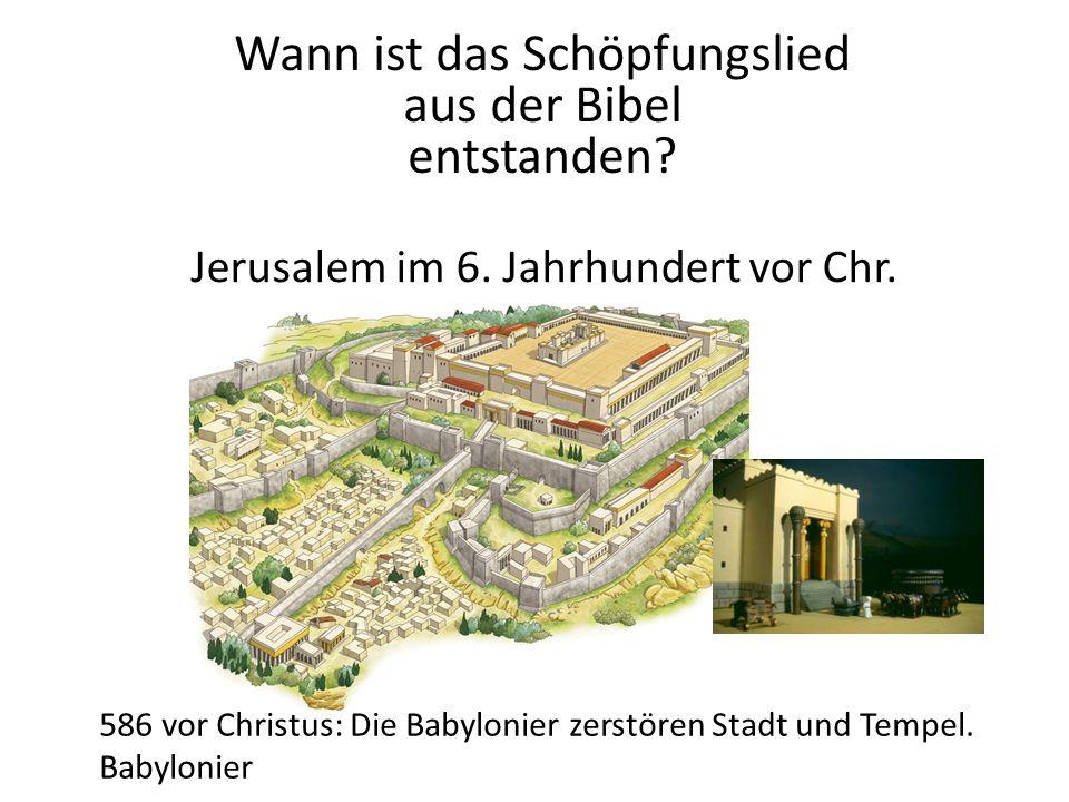 Jerusalem im 6. Jahrhundert vor Chr.