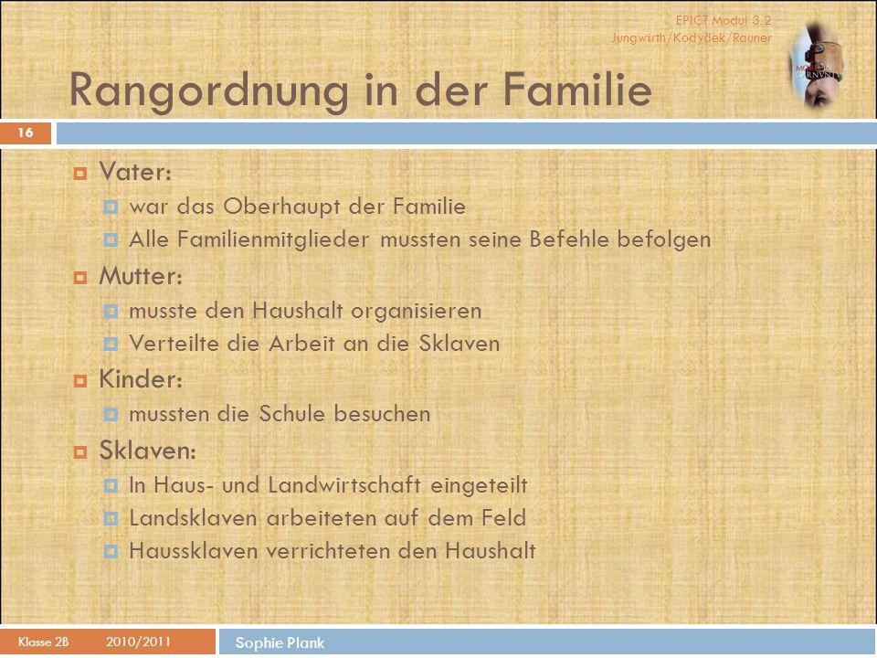Rangordnung in der Familie