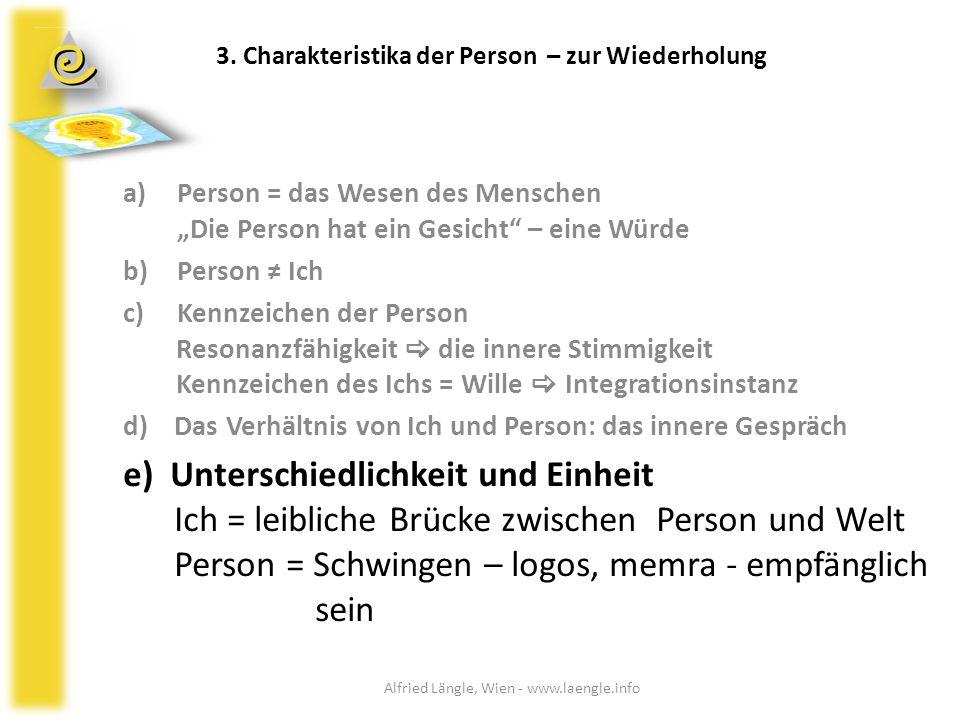 3. Charakteristika der Person – zur Wiederholung