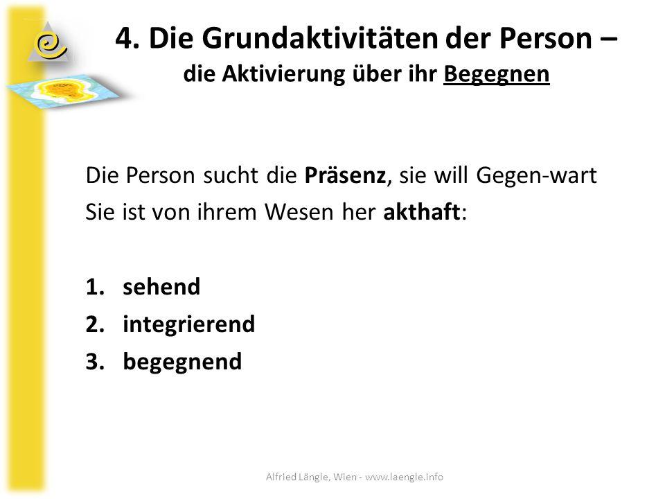 4. Die Grundaktivitäten der Person – die Aktivierung über ihr Begegnen