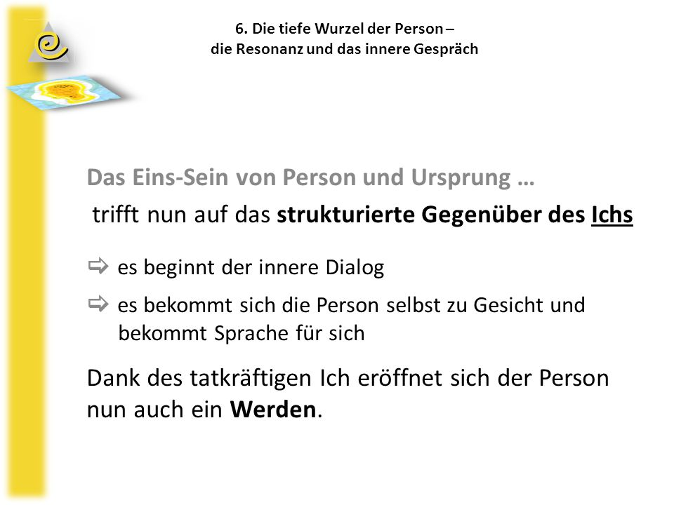 6. Die tiefe Wurzel der Person – die Resonanz und das innere Gespräch