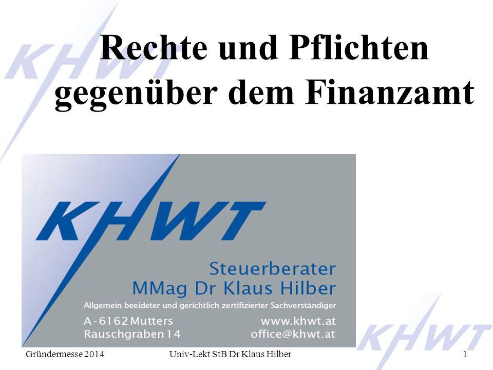 Rechte und Pflichten gegenüber dem Finanzamt