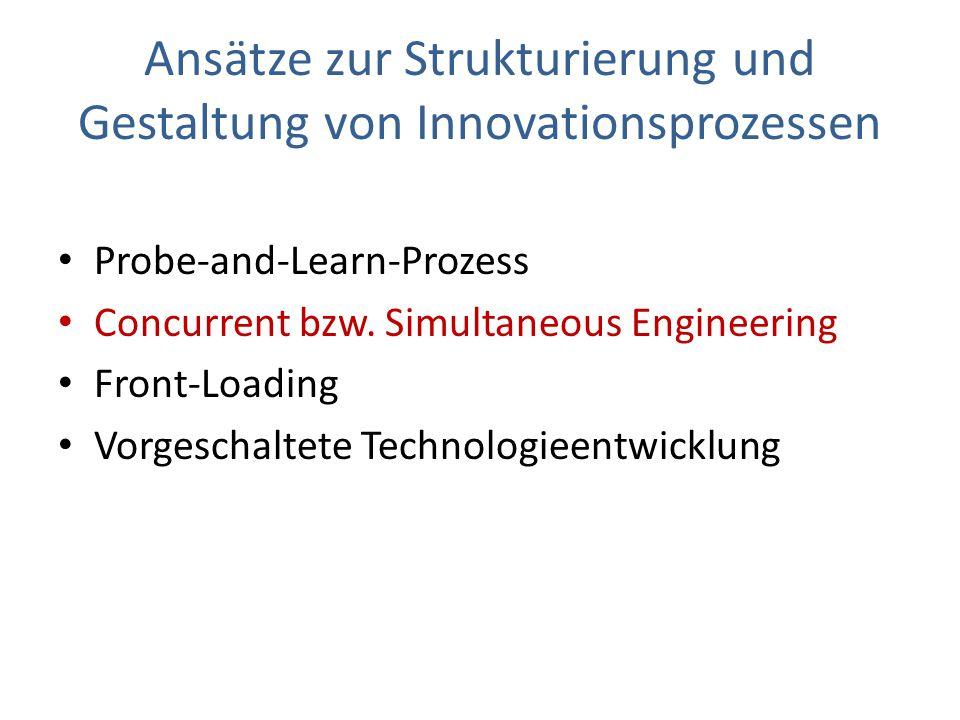 Ansätze zur Strukturierung und Gestaltung von Innovationsprozessen