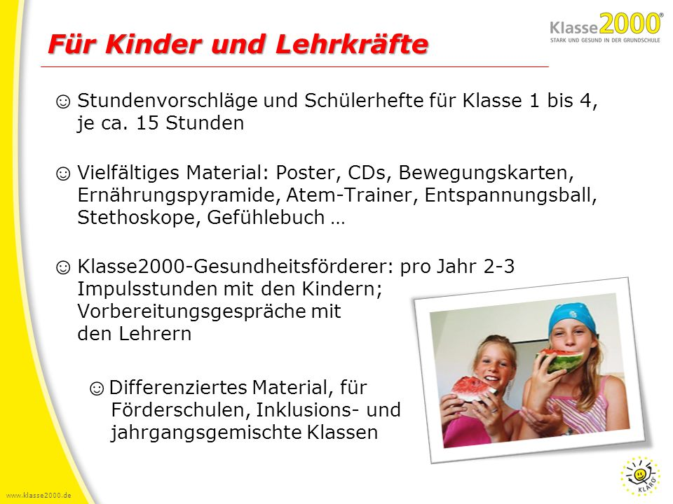 Für Kinder und Lehrkräfte