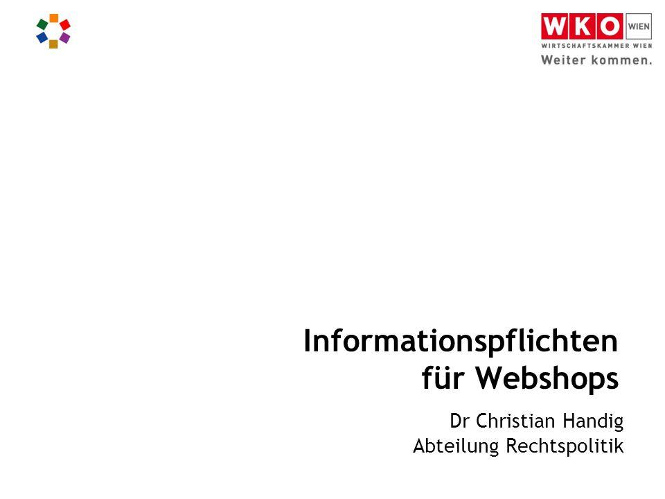 Informationspflichten für Webshops