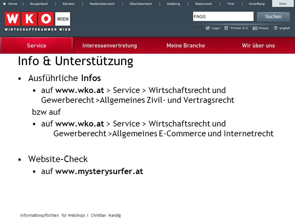 Info & Unterstützung Ausführliche Infos Website-Check