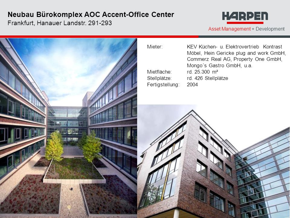 Neubau Bürokomplex AOC Accent-Office Center