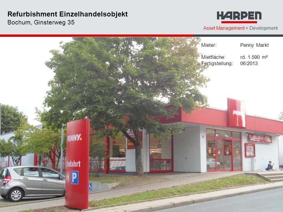 Refurbishment Einzelhandelsobjekt Bochum, Ginsterweg 35