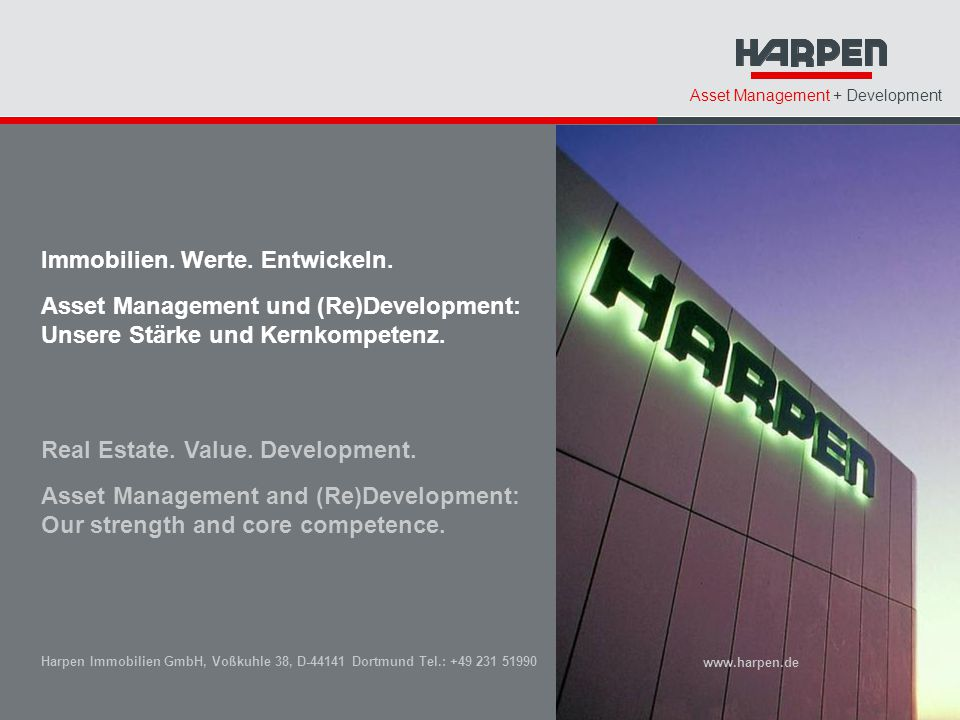 Immobilien. Werte. Entwickeln. Asset Management und (Re)Development:
