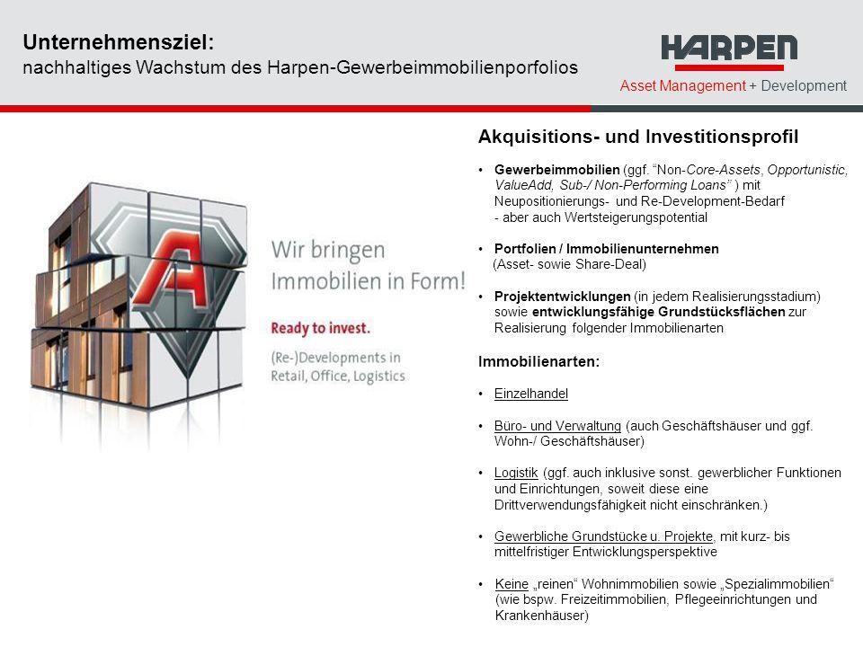 Unternehmensziel: nachhaltiges Wachstum des Harpen-Gewerbeimmobilienporfolios