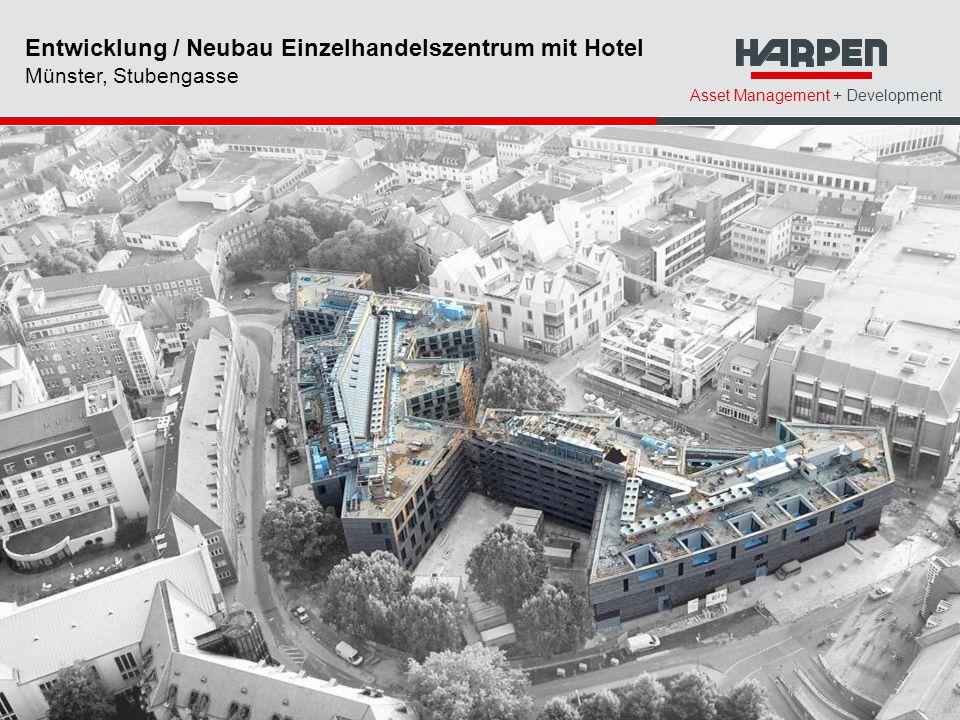 Entwicklung / Neubau Einzelhandelszentrum mit Hotel Münster, Stubengasse