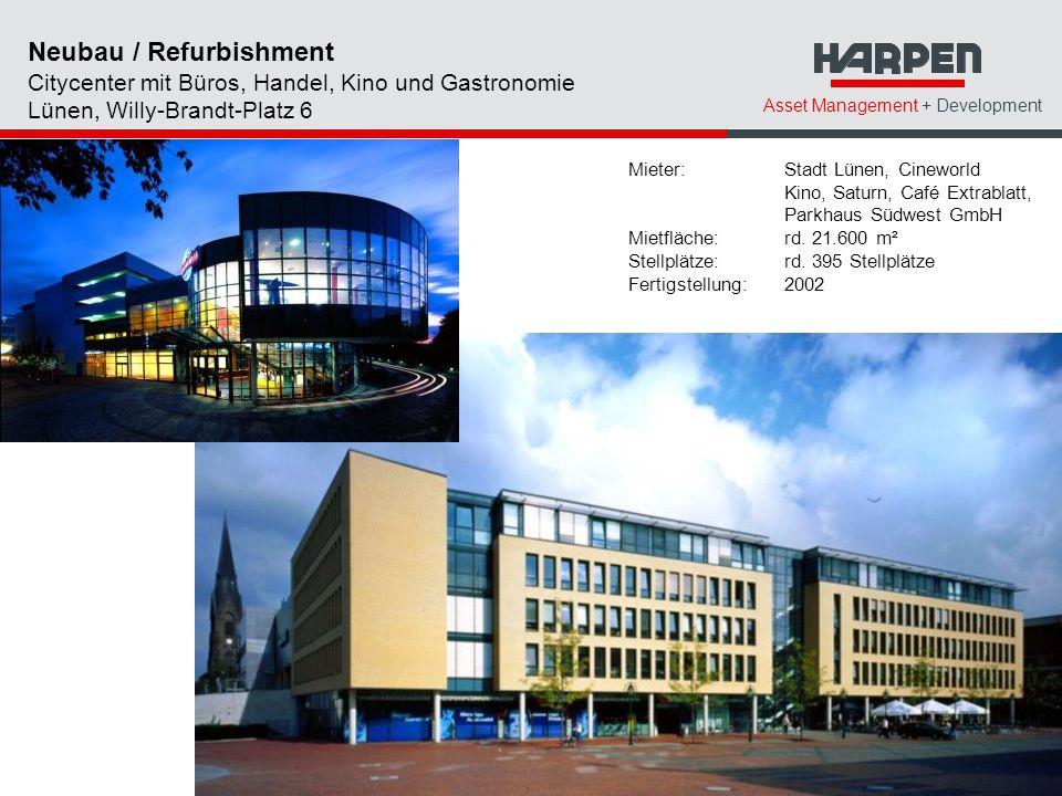 Neubau / Refurbishment Citycenter mit Büros, Handel, Kino und Gastronomie