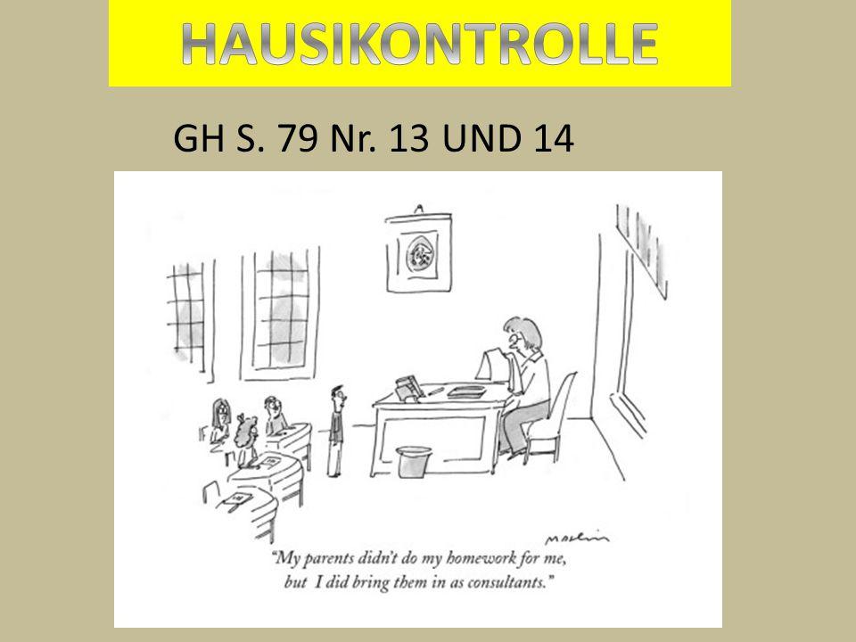 HAUSIKONTROLLE GH S. 79 Nr. 13 UND 14
