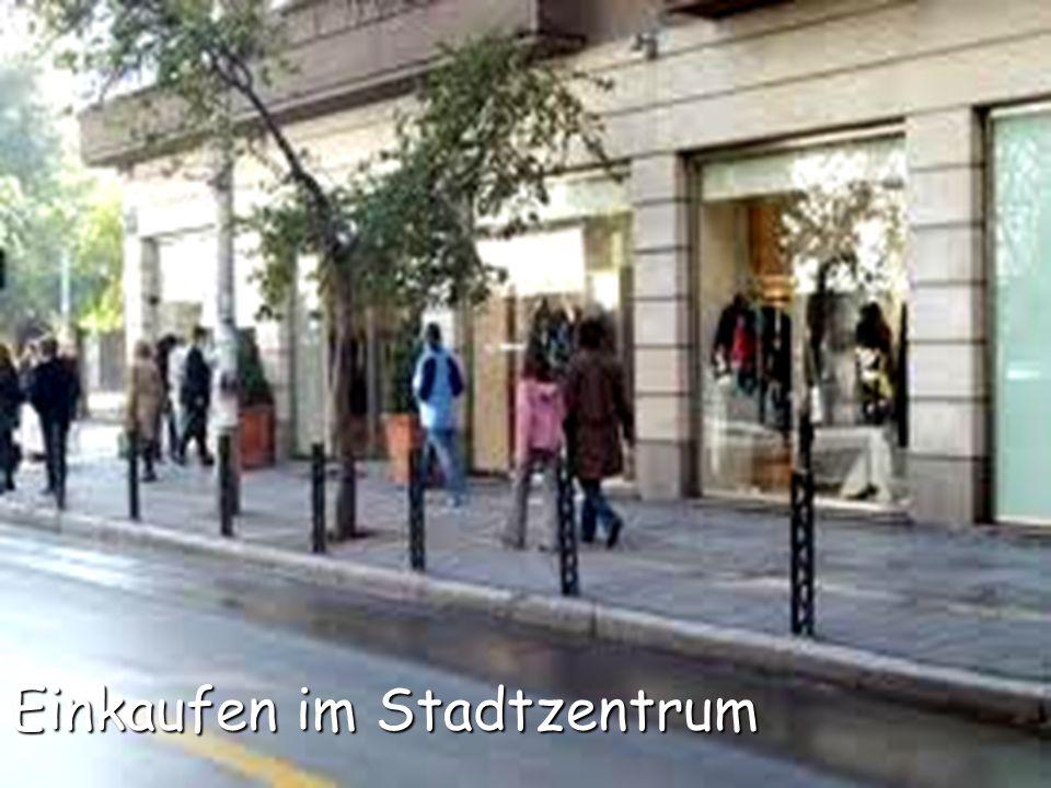 Einkaufen im Stadtzentrum