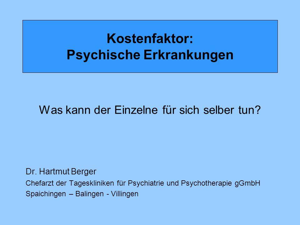 Kostenfaktor: Psychische Erkrankungen