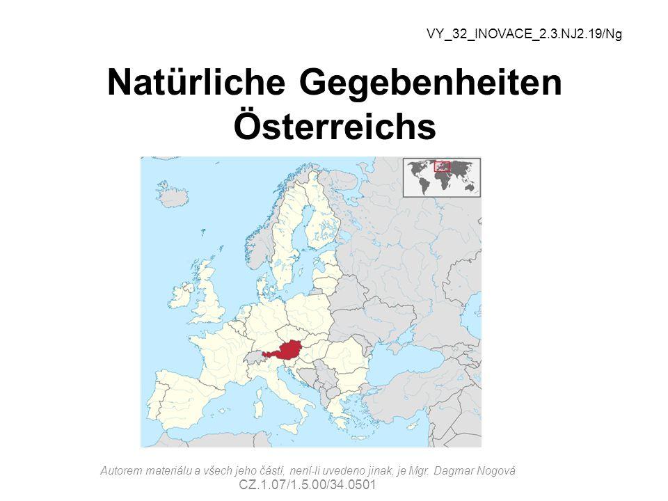 Natürliche Gegebenheiten Österreichs
