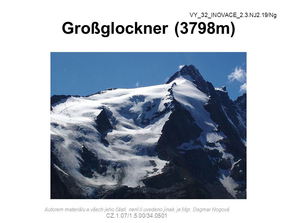 Großglockner (3798m) VY_32_INOVACE_2.3.NJ2.19/Ng
