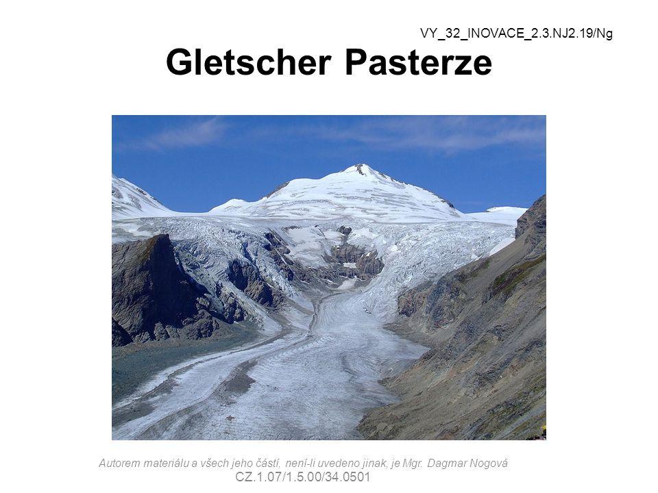 Gletscher Pasterze VY_32_INOVACE_2.3.NJ2.19/Ng CZ.1.07/1.5.00/34.0501