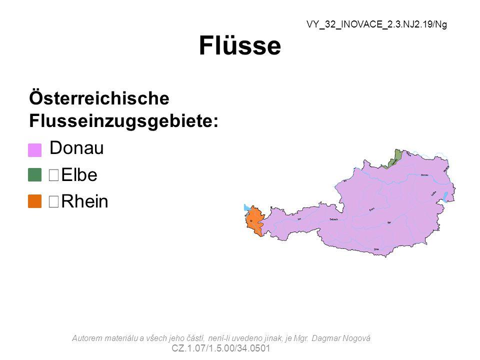 Flüsse Österreichische Flusseinzugsgebiete: Donau Elbe Rhein