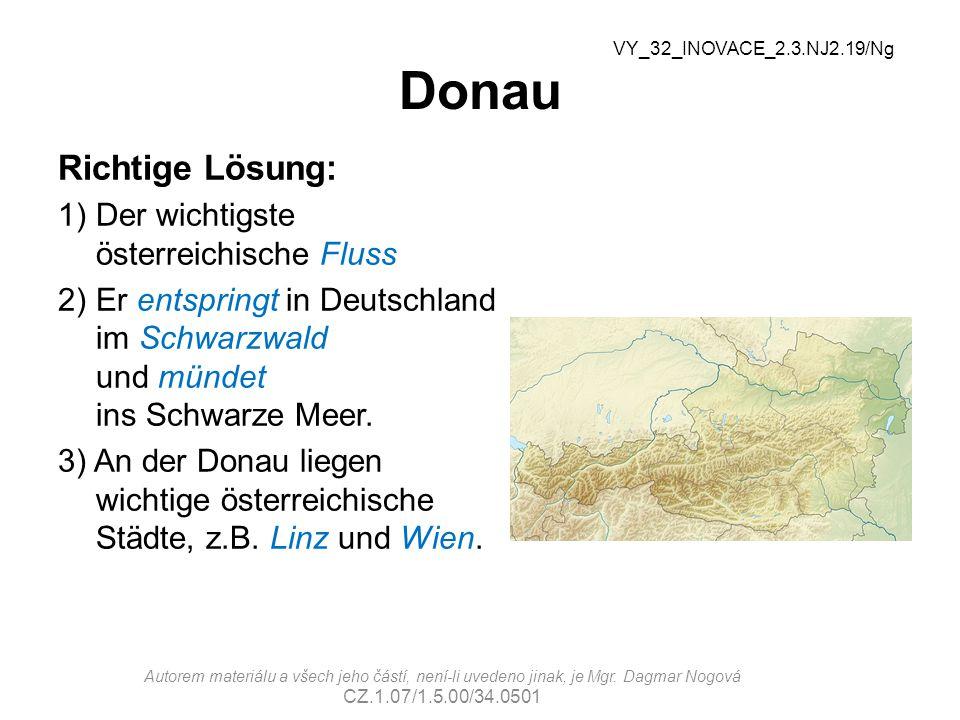 Donau Richtige Lösung: Der wichtigste österreichische Fluss