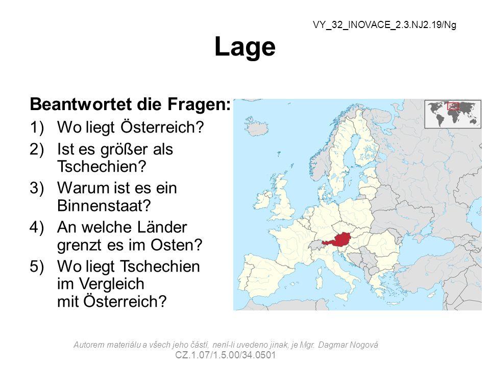 Lage Beantwortet die Fragen: Wo liegt Österreich