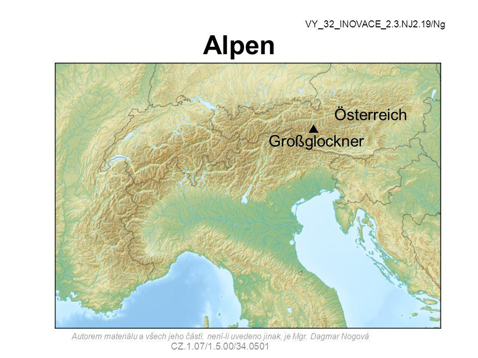 Alpen Österreich Großglockner p VY_32_INOVACE_2.3.NJ2.19/Ng