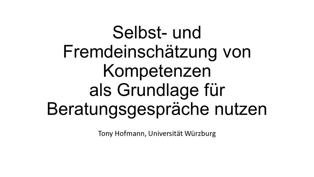 Tony Hofmann, Universität Würzburg