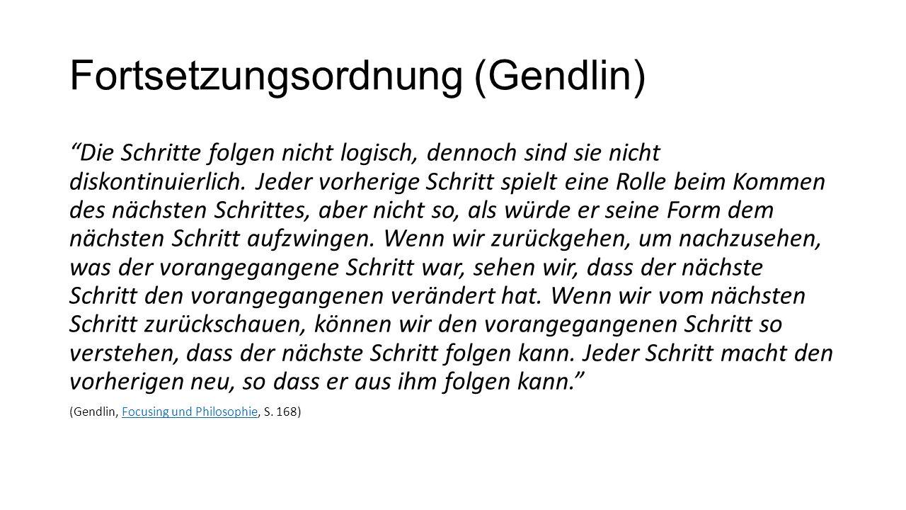 Fortsetzungsordnung (Gendlin)